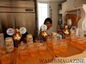 一番搾りガーデン東京では、全国各地の一番搾りの飲み比べを楽しめる